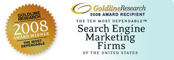 Goldline Award - Top Ten Dependable Search Engine Marketing Firms in the US