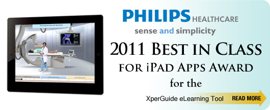 2011 Best in Class for iPad Apps Award for the Xperguide eLearning Tool