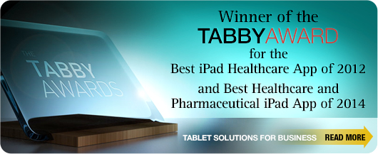 Tabby Award for the Best iPad Healthcare and Pharmaceutical iPad App of 2014